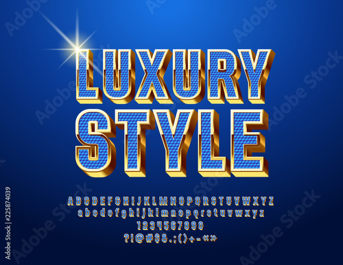Photo Chic Blue and Golden Font