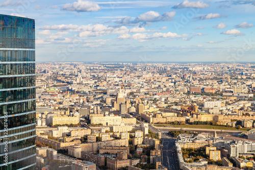Fotobehang Aziatische Plekken aerial view of center and southwest of Moscow city