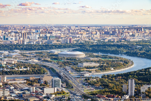 Foto op Canvas Aziatische Plekken view of Luzhniki arena stadium in autumn twilight