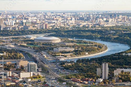 Keuken foto achterwand Aziatische Plekken aerial view of Luzhniki arena stadium in Moscow
