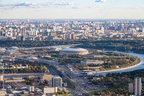 Keuken foto achterwand Aziatische Plekken view of Luzhniki stadium and southeast of Moscow