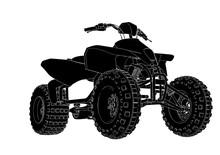 Silhouette Quad Bike Vector