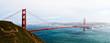 The Golden Gate Bridge as seen from Marine Headlands, San Francisco, California, USA