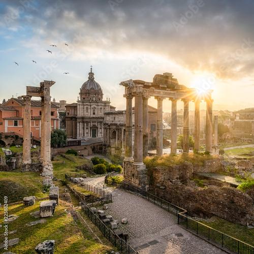 In de dag Centraal Europa Forum Romanum in Rom, Italien
