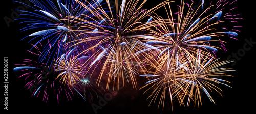 fireworks in the sky Billede på lærred