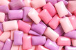 canvas print picture - gum. colorful confectionary background of candy gums in different shades of pink and purple.
