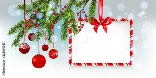Fotobehang - Nature Christmas tree banner