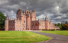 The Castle Of Glamis Is The Typical Scottish Castle, Stately, Full Of Turrets And Battlements, Was The Legendary Stage Of Shakespeare's Macbeth.