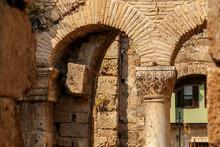 Ancient Hadrians Gate In Antalya City, Turkey
