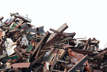 Heap Of Metal Scrap Isolate On...