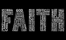 Word Faith In White Written Wi...
