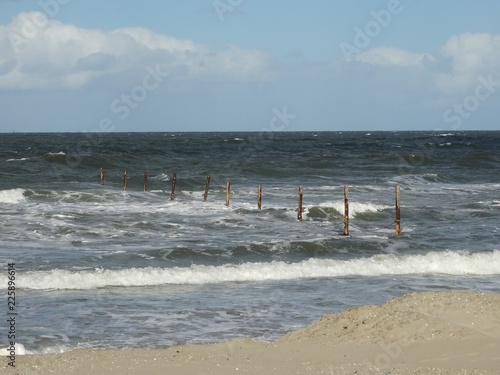 Spoed Foto op Canvas Noordzee starker Wellengang an der Nordsee