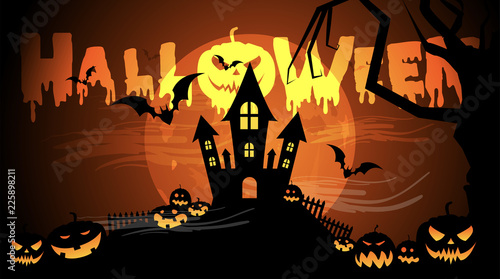 Halloween, zucche, zucca, paura, tutti i santi Canvas Print