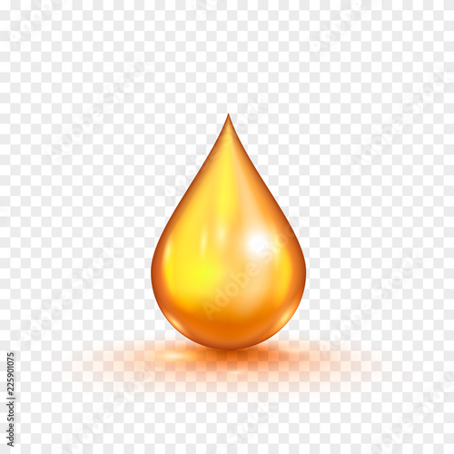 Valokuva  Oil gold bubble isolated on a transparent background