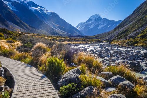 Foto op Aluminium Oceanië Hooker Valley Track, Aoraki Mount Cook, New Zealand
