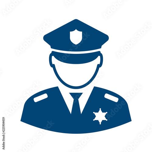 Photo Policeman avatar vector icon
