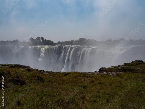 Küchenrückwand aus Glas mit Foto Wasserfalle Victoria Falls, Zimbabwe