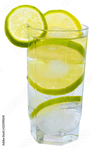 Lemonade with lime isolated