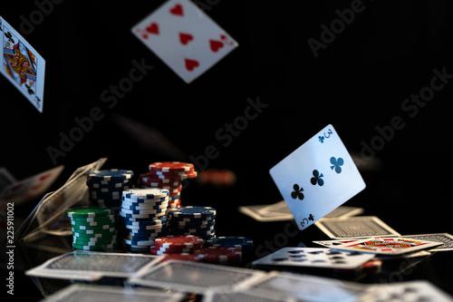 Fotografering  Poker Cards falling