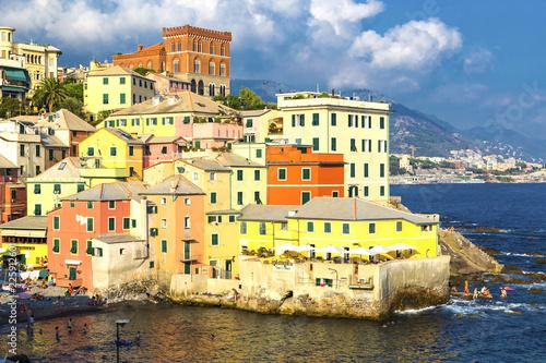 Photographie  Ancient Boccadasse, Italy, Genova,  Ligurian Riviera