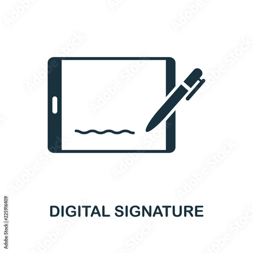 Digital Signature icon Fotobehang