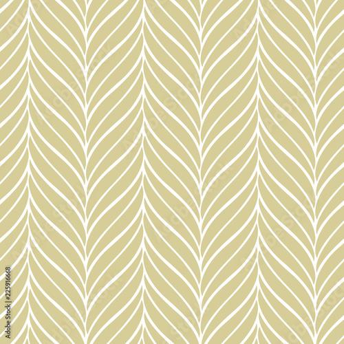 Türaufkleber Künstlich Vector pattern with golden leaves. Seamless pattern.