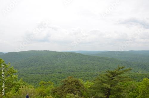 Fotobehang Wit Bear Mountain view of Hudson River