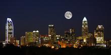 Charlotte City Skyline At Nigh...