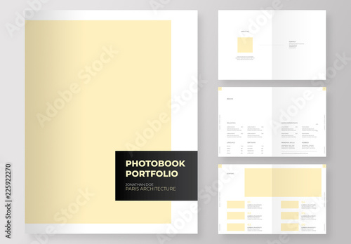 Photography and designs Portfolio book with editable pale