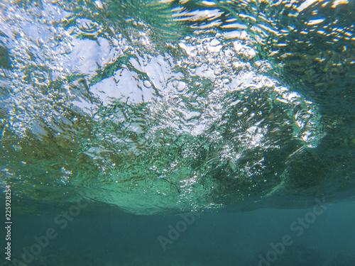 Fotografía  Sea wave swirl underwater photo