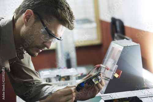 Close-up of engineer in office