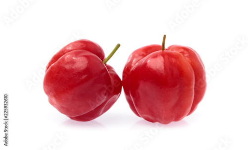 Fresh organic cherry isolated on white background Canvas Print