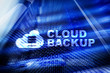 Cloud backup. Server data loss prevention. Cyber security.