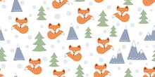 Scandinavian Seamless With Foxes
