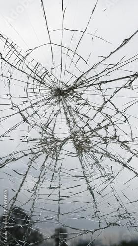 Foto op Canvas Texas broken glass
