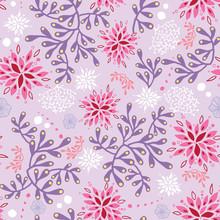 Purple And Pink Underwater Sea...