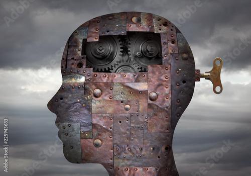 Fotografia Metallic head with key