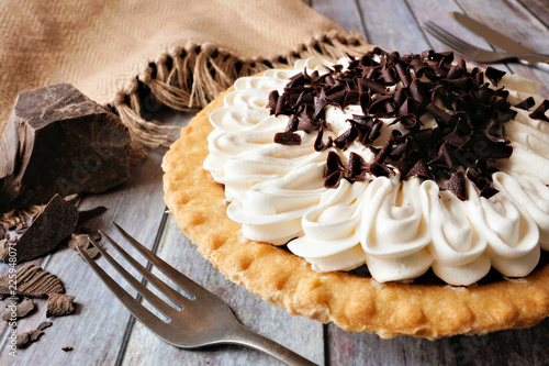 Fotografia, Obraz  Sweet chocolate cream pie