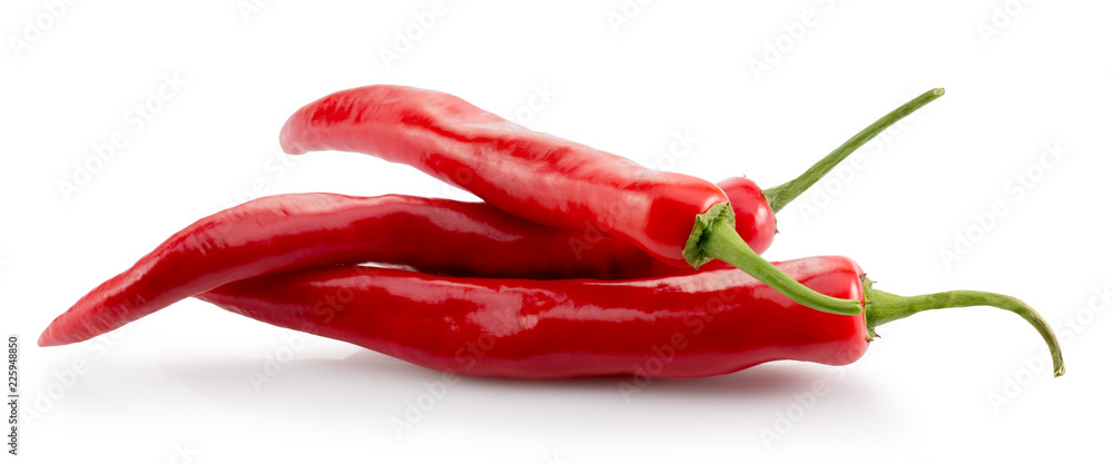Fototapety, obrazy: red chilli peppers isolated on a white background