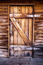 Old Weathered Wooden Door To W...