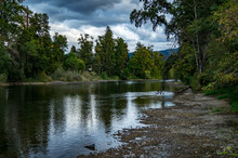 The Rogue River With Storm Clo...