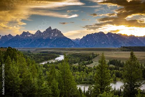 Stampa su Tela Snake River Overlook in Grand Teton National Park