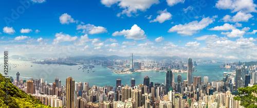 Keuken foto achterwand Aziatische Plekken Panoramic view of Hong Kong