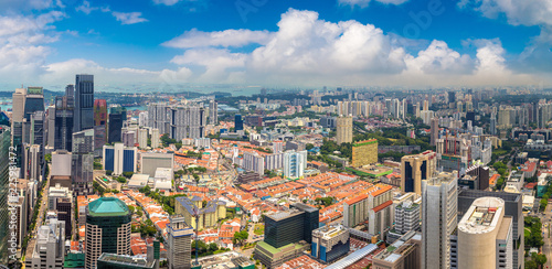 Garden Poster South America Country Panoramic view of Singapore