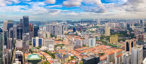 Fotobehang Aziatische Plekken Panoramic view of Singapore