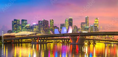 Fotobehang Aziatische Plekken Singapore at night