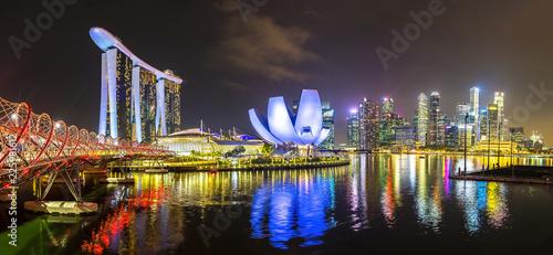 Fototapeta premium Marina Bay Sands i Helix Bridge