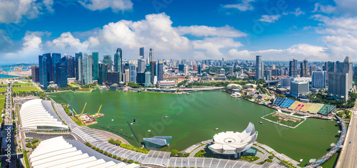 Photo  Panoramic view of Singapore