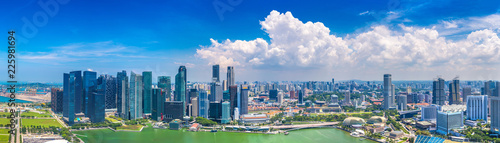 Tuinposter Singapore Panoramic view of Singapore