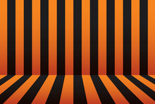 Halloween Stripe Room Black And Orange Background.